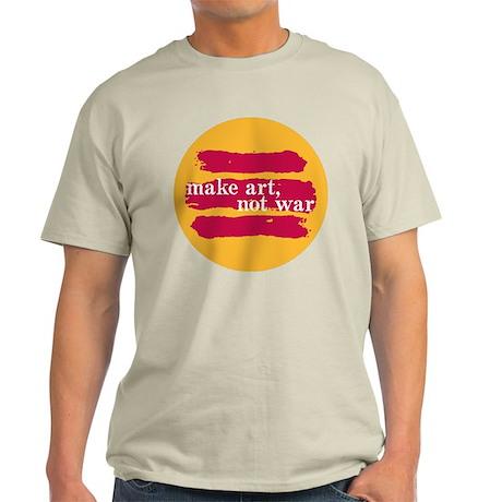 Make Art, Not War Light T-Shirt