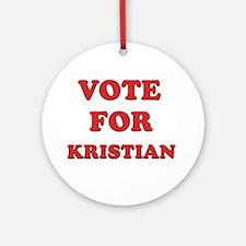 Vote for KRISTIAN Ornament (Round)