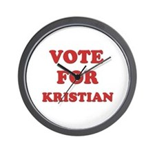 Vote for KRISTIAN Wall Clock
