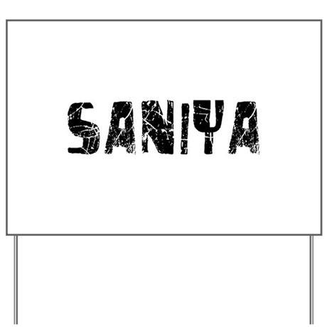 Saniya Faded (Black) Yard Sign