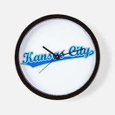 Retro Kansas City (Blue) Wall Clock