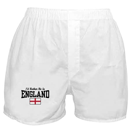 I'd Rather be in England Boxer Shorts