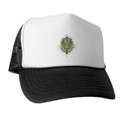 Stylized Badminton Trucker Hat