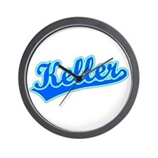 Retro Keller (Blue) Wall Clock