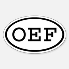 OEF Oval Oval Decal
