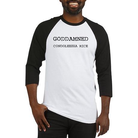 GODDAMNED CONDOLEEZZA RICE Baseball Jersey