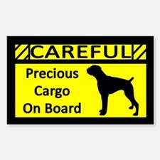 Precious Cargo Boxer Sticker (Rect) Natural Ears