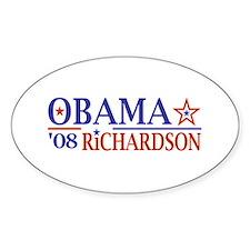 Obama Richardson '08 Oval Decal