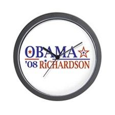 Obama Richardson '08 Wall Clock