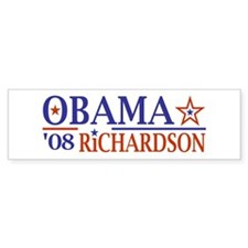 Obama Richardson '08 Bumper Car Sticker