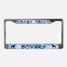 Crazy About Boxers License Plate Frame