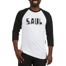 Saul Faded (Black) Baseball Jersey