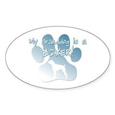 Boxer Granddog Oval Decal