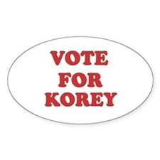 Vote for KOREY Oval Decal