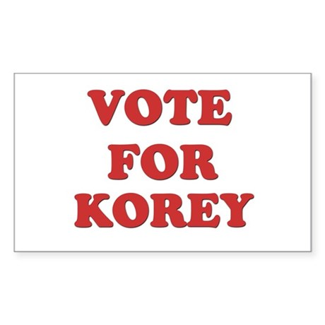 Vote for KOREY Rectangle Sticker