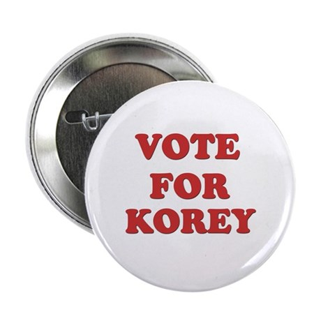 """Vote for KOREY 2.25"""" Button (10 pack)"""
