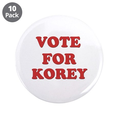 "Vote for KOREY 3.5"" Button (10 pack)"