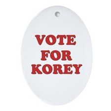 Vote for KOREY Oval Ornament