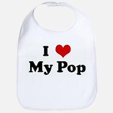 I Love My Pop Bib