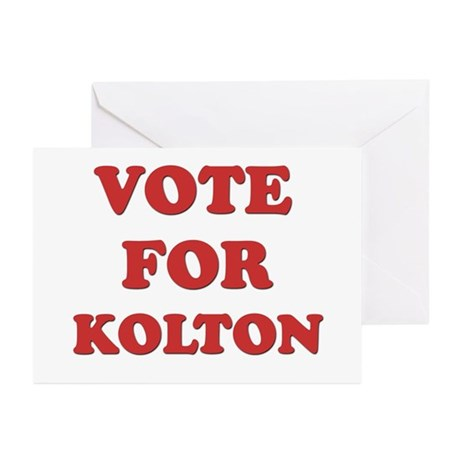 Vote for KOLTON Greeting Cards (Pk of 20)