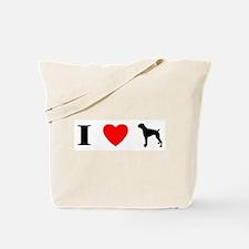 I Heart Boxer Tote Bag