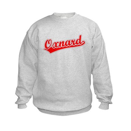 Retro Oxnard (Red) Kids Sweatshirt