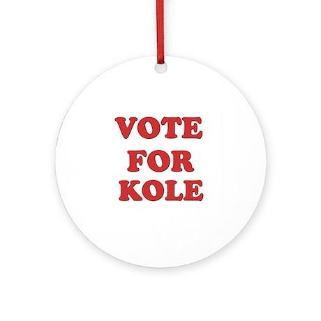 Vote for KOLE Ornament (Round)