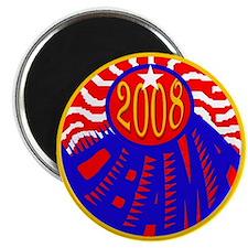 OBAMA 2008 RWB Magnet