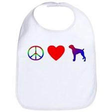 Peace Love Boxer Bib