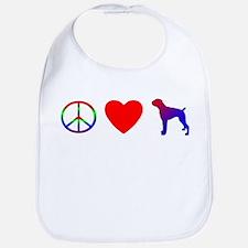 Peace Love Boxer Bib