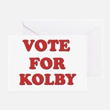 Vote for KOLBY Greeting Card