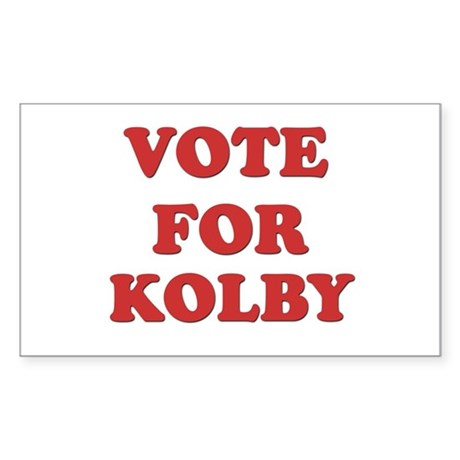 Vote for KOLBY Rectangle Sticker