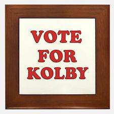 Vote for KOLBY Framed Tile
