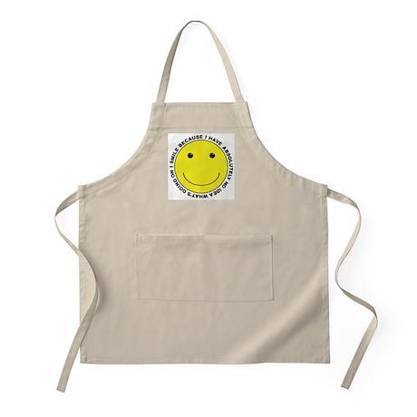 I Smile Because ... BBQ Apron