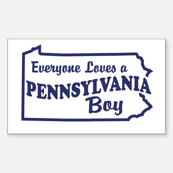 Pennsylvania Boy Rectangle Decal