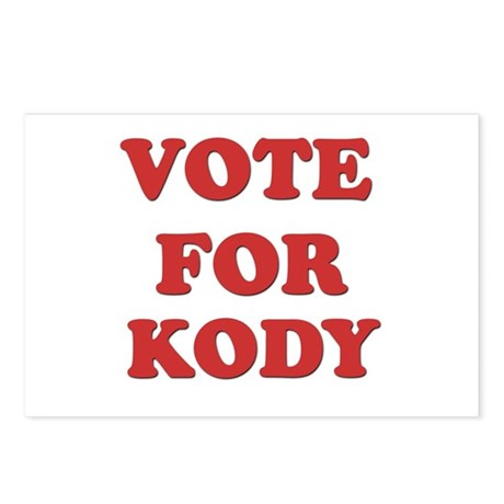 Vote for KODY Postcards (Package of 8)