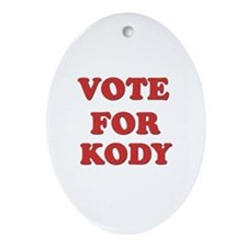 Vote for KODY Oval Ornament
