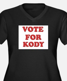 Vote for KODY Women's Plus Size V-Neck Dark T-Shir