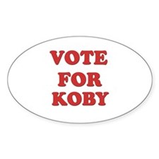 Vote for KOBY Oval Decal