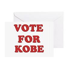 Vote for KOBE Greeting Card