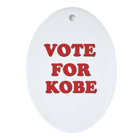 Vote for KOBE Oval Ornament