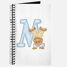 Teddy Alphabet M Blue Journal