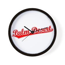 Retro Palm Desert (Red) Wall Clock