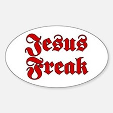 Jesus Freak Christian Oval Decal
