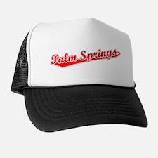 Retro Palm Springs (Red) Trucker Hat