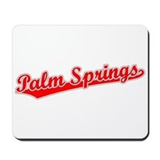 Retro Palm Springs (Red) Mousepad