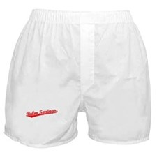 Retro Palm Springs (Red) Boxer Shorts