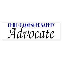 Child Passenger Safety Advocate (bumper sticker)