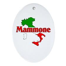 Mammone (Italian Mamma's Boy) Oval Ornament