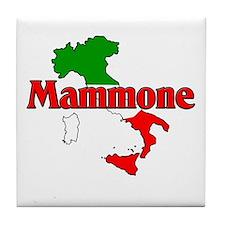 Mammone (Italian Mamma's Boy) Tile Coaster